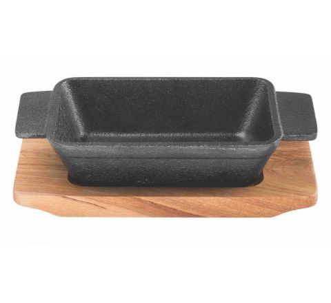 Pyrolux Pyrocast Rectangular Baker With Maple Tray 13.5cm x 9cm - SKU 11864