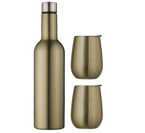 Avanti Double Wall Insulated Wine Traveller Set Champagne SKU - 13251