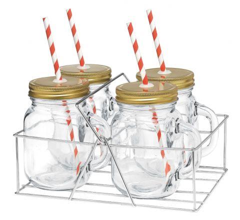 Avanti Mason Jar & Handle Caddy - SKU 14-16645