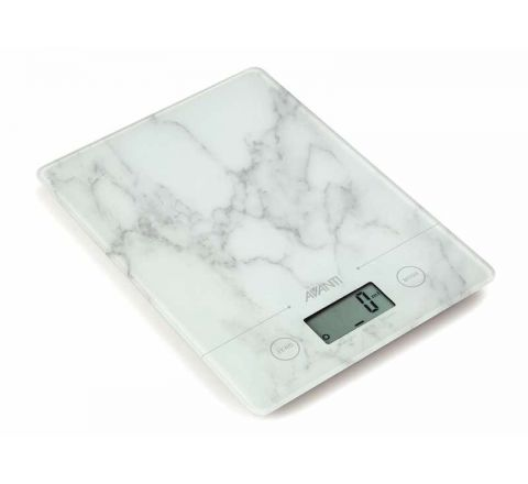 Avanti Compact Digital Kitchen Scale White Marble - SKU 16847