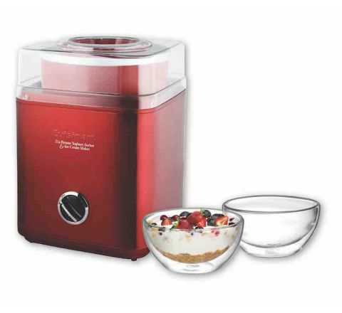 Cuisinart Ice Cream Maker (Metallic Red) - SKU 46512