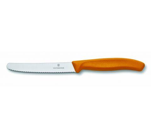 Victorinox Swiss Classic Tomato & Sausage Knife 11cm Orange - SKU 67836OR