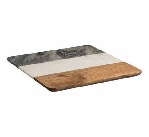 Peer Sorensen Marble & Acacia Wood Square Serving Board 30.5cm X 30.5cm - SKU 74323