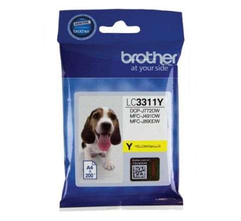 Brother Ink Cartridge Yellow - SKU LC3311Y