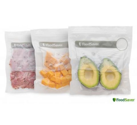 FoodSaver Reusable Zipper Bags - SKU VS0500