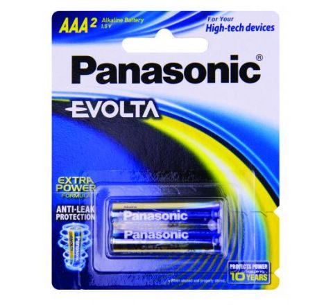 Panasonic Evolta AAA Batteries 2 Pack - SKU LR03EG2B
