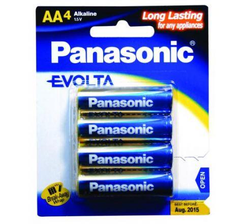 Panasonic Evolta AA Batteries 4 Pack - SKU LR6EG4B