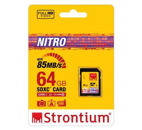 Strontium NITRO 64GB SD Card - SKU SRN64GSDU1