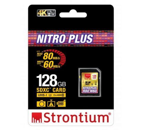 Strontium NITRO PLUS 128GB SDXC Card - SKU SRP128GSDU1