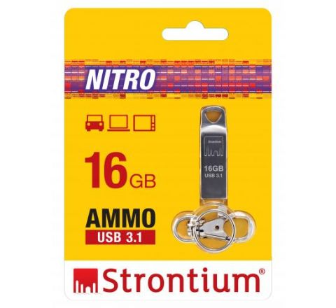 Strontium 16GB AMMO USB Drive - SKU SR16GSLAMMOY
