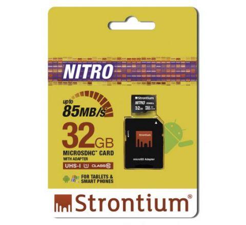 Strontium NITRO 32GB MicroSD Card - SKU SRN32GTFU1QA