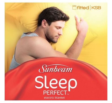 Sunbeam Sleep Perfect King Single Bed Fitted Heated Blanket - SKU BL5131