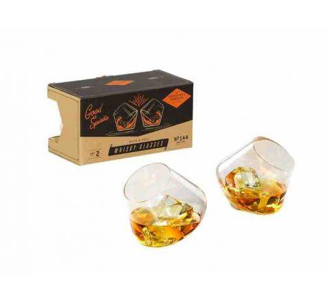 Gentlemen's Rock & Roll Whisky Glasses Set of 2 GEN144