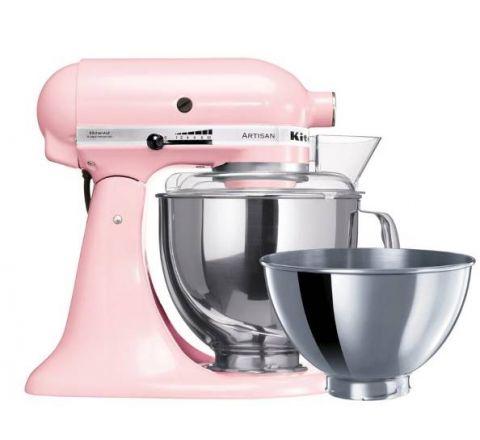 KitchenAid 4.8L Artisan Tilt-Head Stand Mixer (Two Bowls) Pink - SKU 5KSM160PSAPK