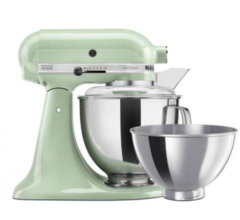 KitchenAid 4.8L Artisan Tilt-Head Stand Mixer (Two Bowls) Pistachio - SKU 5KSM160PSAPT
