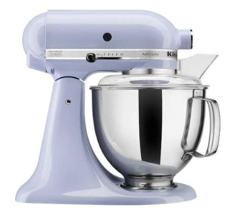KitchenAid 4.8L Artisan Tilt-Head Stand Mixer (Two Bowls) Lavender - SKU 5KSM160PSALR