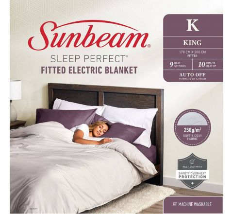 Sunbeam Sleep Perfect Fitted Electric Blanket King - BLF5171