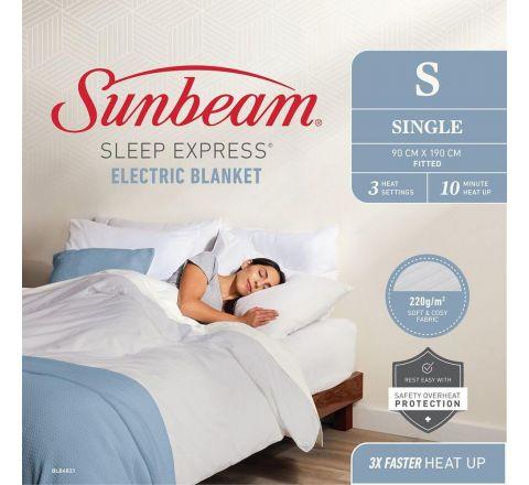 Sunbeam Sleep Express Electric Blanket Single - SKU BLB4821