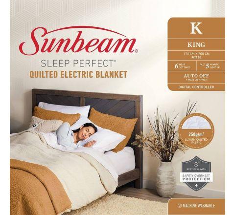 Sunbeam Sleep Perfect Quilted Electric Blanket King - SKU BLQ5471