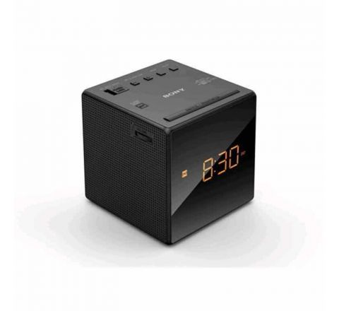 Sony Single Alarm Clock Radio Black - SKU ICFC1B